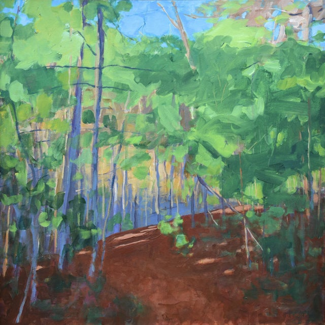 """Titled """"Late Afternoon"""". Walking the dog on the trails off the back yard a little before sunset. Tops of trees catching..."""