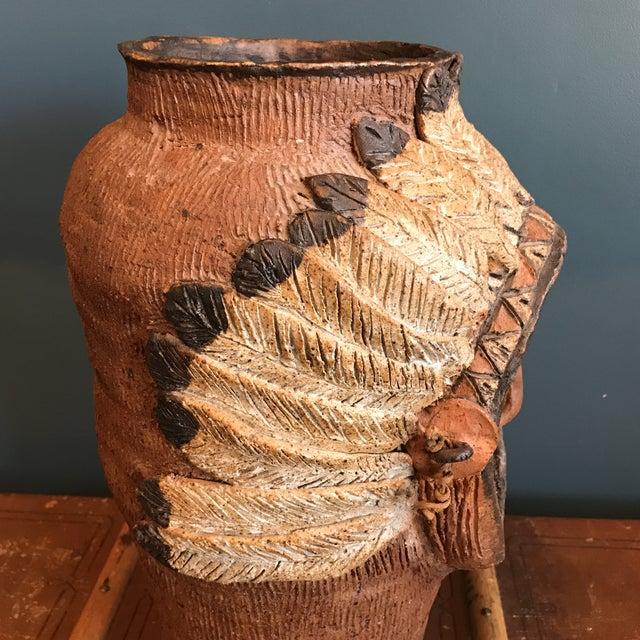 Indian Head Ceramic Vase - Image 6 of 9