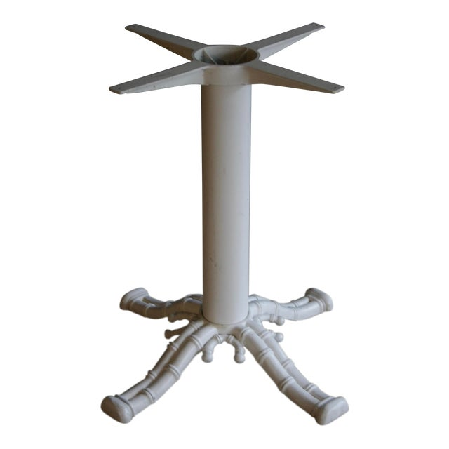 Faux Bamboo White Table Base For Sale