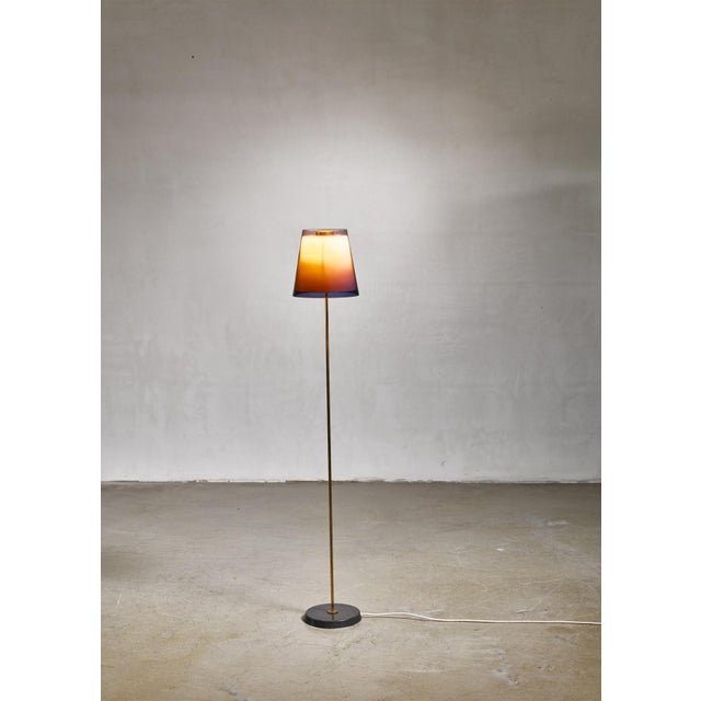Mid-Century Modern Yki Nummi Floor Lamp With Two Layered Shade for Orno, Finland, 1960s For Sale - Image 3 of 6