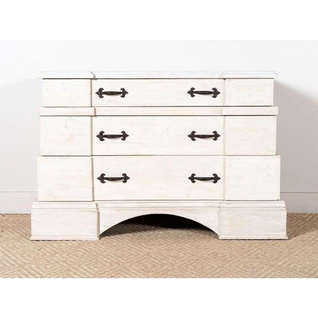 Reclaimed wood chest Three drawers Douglas Fir Ivory wash wax finish