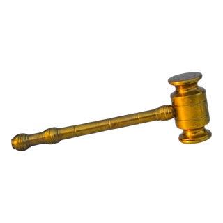 Vintage Brass Gavel For Sale