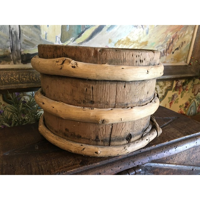 1900 - 1909 Antique French Wood Water Vessel Bucket Container For Sale - Image 5 of 8