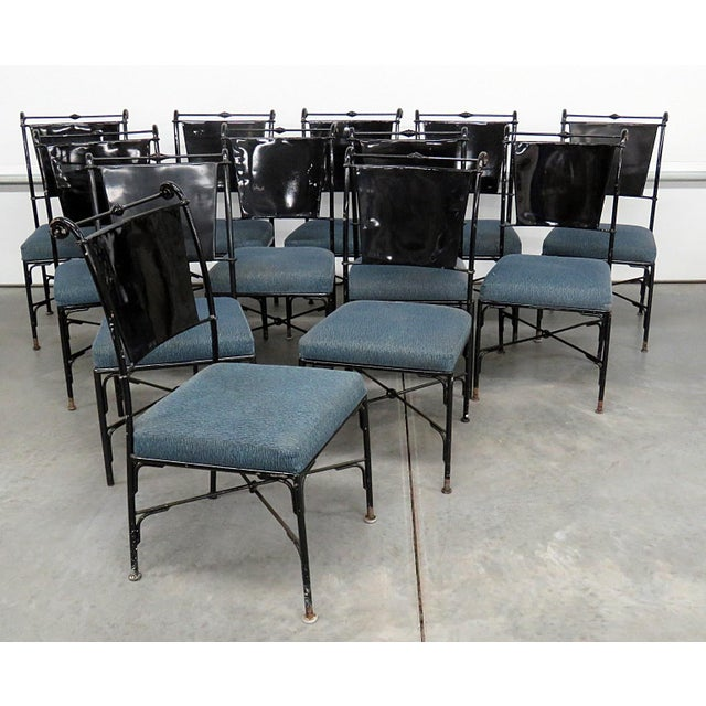 Vintage Mid-Century Modern Metal Dining / Side Chairs - Set of 10 For Sale - Image 13 of 13