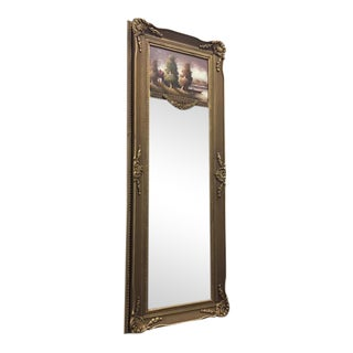 French Style Wall Trumeau Mirror For Sale