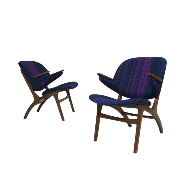 Carl Edward Matthes Danish Teak Lounge Chairs - a Pair For Sale