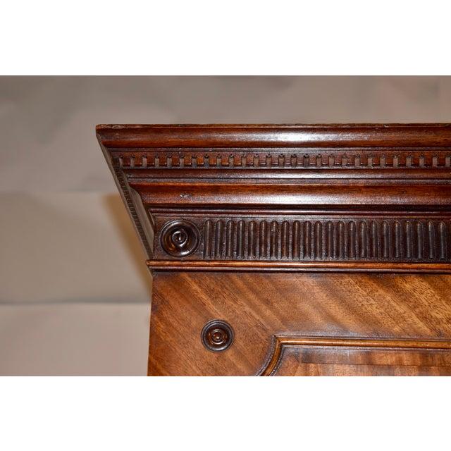 19th Century English Mahogany Linen Press For Sale - Image 11 of 12
