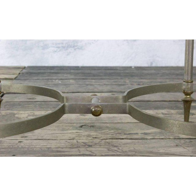 Small Italian Steel and Glass End Table - Image 7 of 11