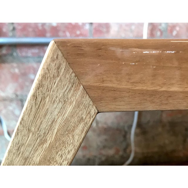 Wood Italian Minimalist Monolithic Oak Bench For Sale - Image 7 of 10