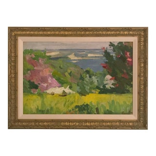 Framed Landscape Oil Painting For Sale