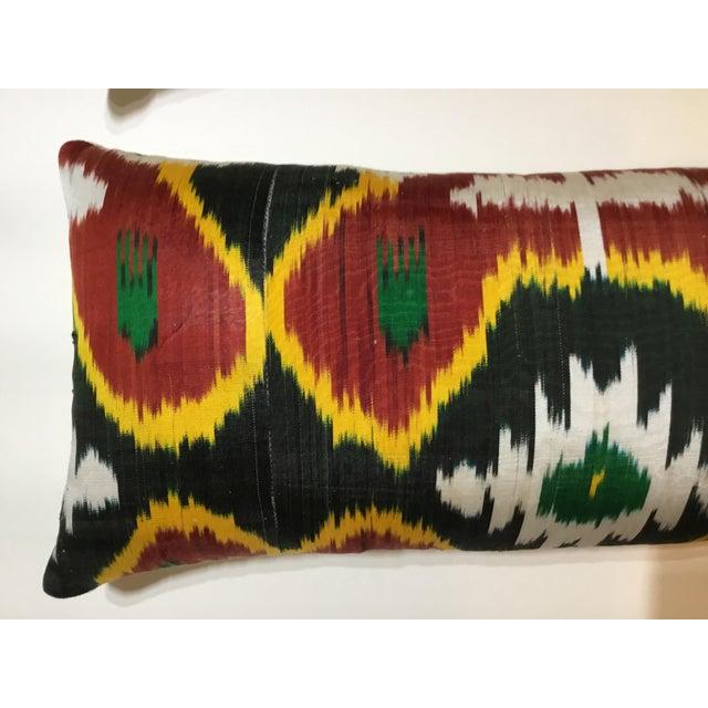Silk Ikat Lumbar Pillows - a Pair For Sale - Image 12 of 13