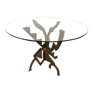 Pucci De Rossi Steel Dining Table For Sale