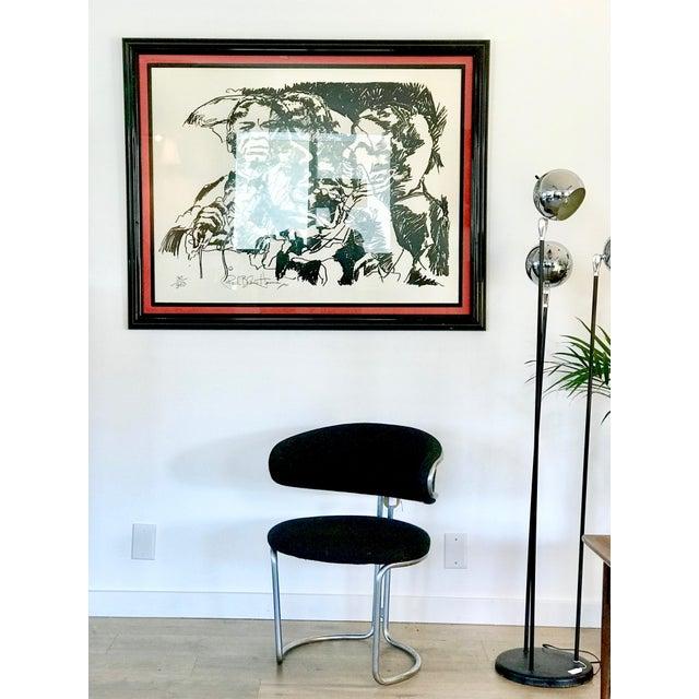 Metal Vintage Barrel Back Modernist Chair For Sale - Image 7 of 9