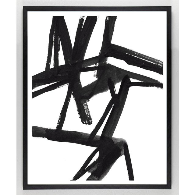 Large Black And White Abstract Modern Art Shadows 2 Unframed Giclee Print Chairish