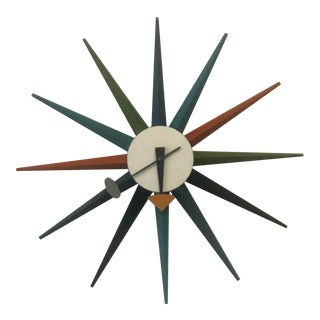 George Nelson Starburst Wall Clock For Sale
