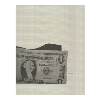Andy Warhol, One-Dollar Bill (Detail), 1990, Offset Lithograph For Sale