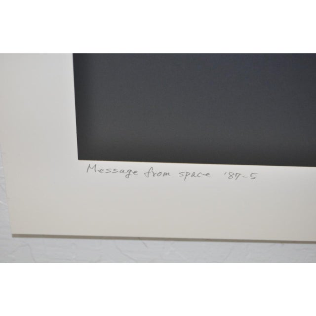 """Vintage Silkscreen """"Message From Space"""" by Hirokazu Yamaguchi For Sale In San Francisco - Image 6 of 7"""
