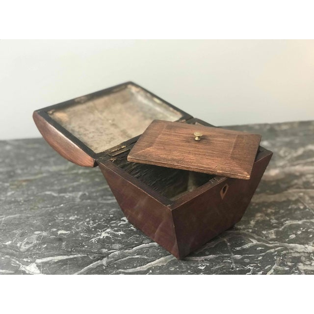 1840s English Small Tapered Tea Caddy Box For Sale - Image 4 of 5