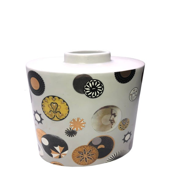 Mid 20th Century Mid Century French Porcelain Vase by Fabienne Jouvin For Sale - Image 5 of 7
