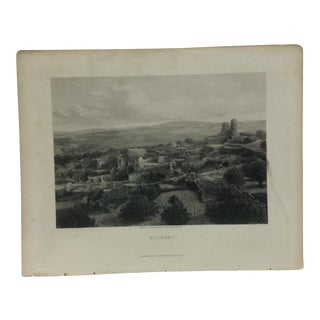 "Antique Original Engraving on Paper ""Bethany"" by Frith Circa 1890 For Sale"