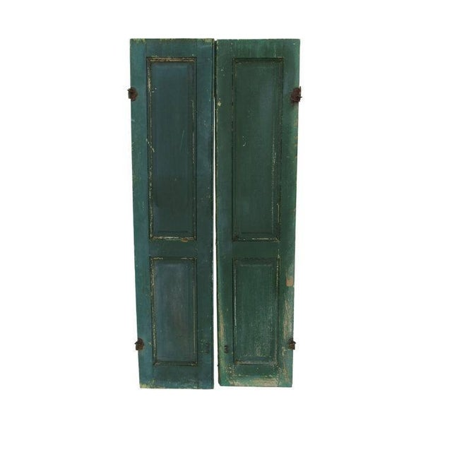 Green Cape May Shutters - A Pair For Sale In Philadelphia - Image 6 of 6