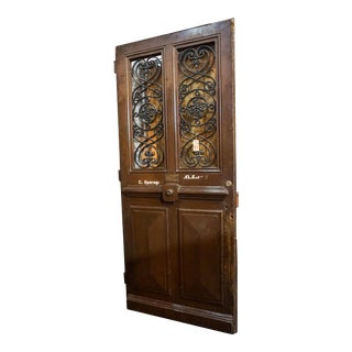Antique 1870 French Oak Door For Sale
