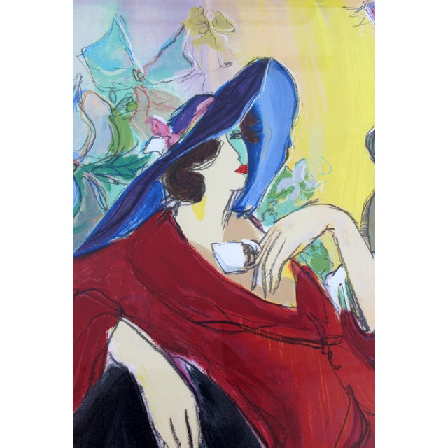 Isaac Maimon Contemporary Modern Isaac Maimon Framed Hand Signed Serigraph Cafe Select For Sale - Image 4 of 8