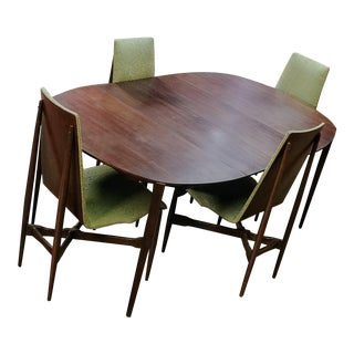 Vintage Mid-Century Dining Table and 4 Chairs