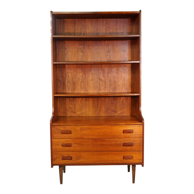 Original Danish Bookcase With 3 Drawers - Image 1 of 6