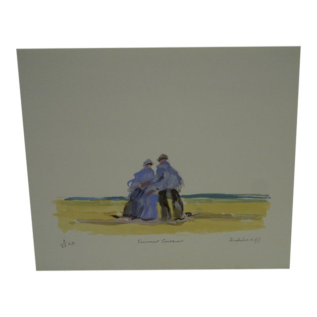 "Frederick McDuff ""Summer Souvenior"" Print - Image 1 of 6"