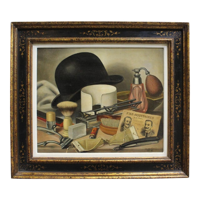 Men's Grooming Still Life by Charles Cerny For Sale