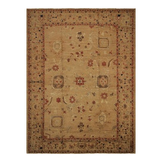 Kafkaz Peshawar Alesha Tan & Rust Wool Rug - 13′9″ × 18′10″ For Sale