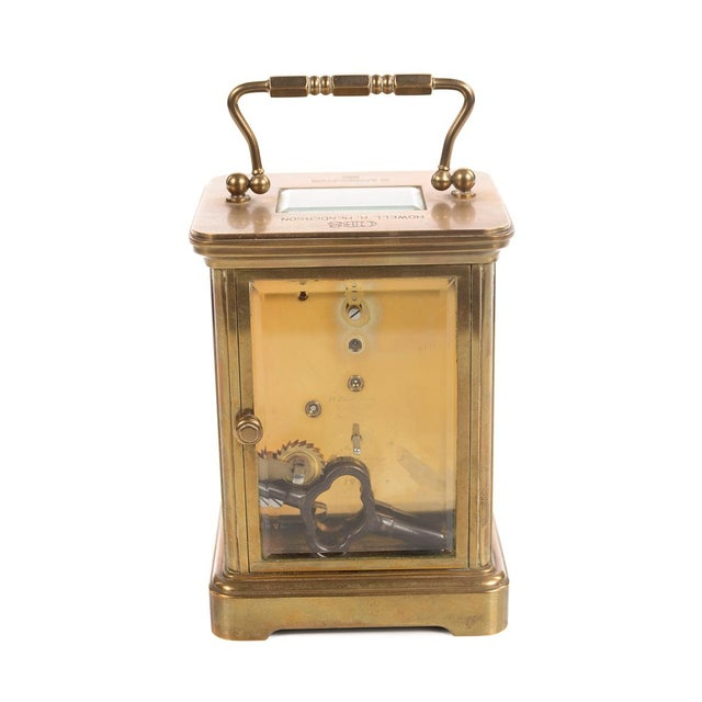 Tiffany & Co. Vintage Brass Carriage Clock For Sale - Image 7 of 9