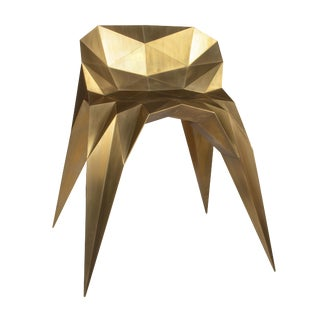 Contemporary Brushed Brass Spider Chair by Zhoujie Zhang For Sale