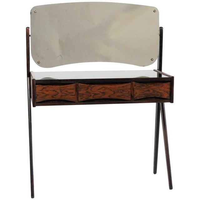 1960s Mid Century Modern Arne Vodder Rosewood Vanity Table For Sale In Madison - Image 6 of 6