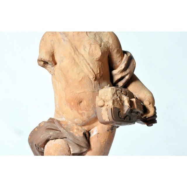 Tan French Terracotta Figure of a Boy For Sale - Image 8 of 11
