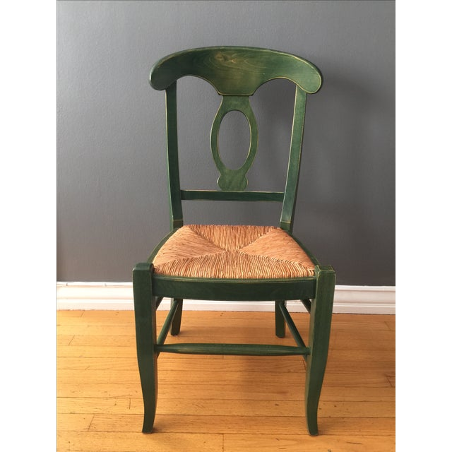Green Pottery Barn Napoleon Dining Chairs - 4