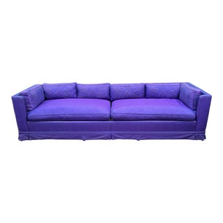 Grosfeld House Hollywood Regency Mid Century Modern 9' Low Sofa For Sale