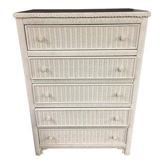 Lexington Henry Link 5 Drawer Wicker Dresser