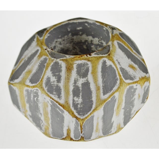 Early 21st Century Vintage Geometric Faceted Votive Candle Holders - a Pair For Sale - Image 5 of 9