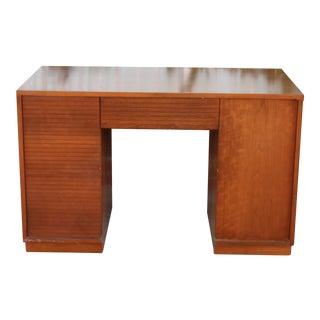 Vintage Henredon Walnut Partner Desk For Sale