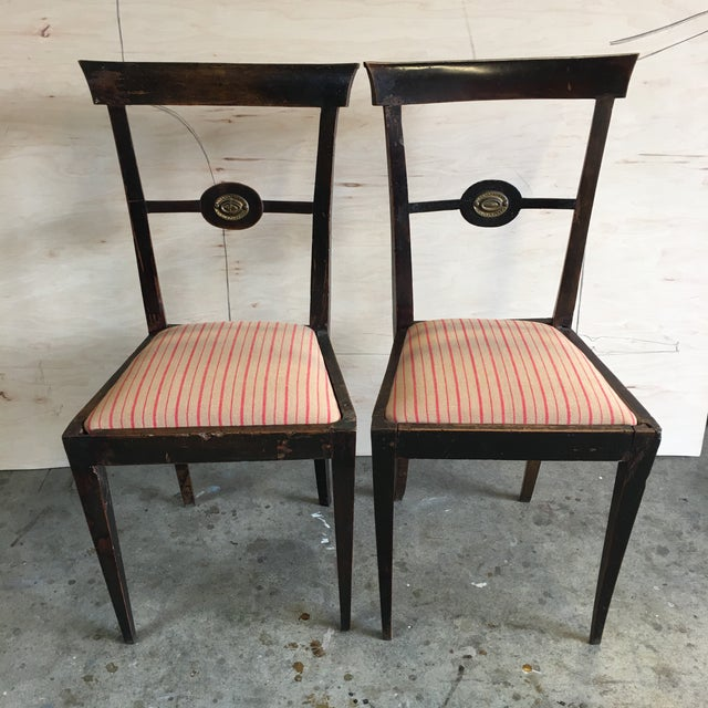Pink 18th Century Italian Decorative Chairs - a Pair For Sale - Image 8 of 8