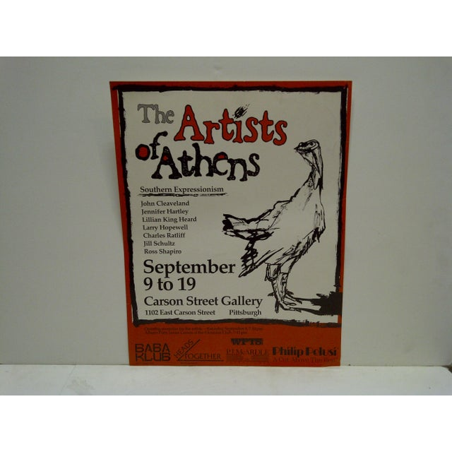 The Artists of Athens Carson Street Gallery Pittsburgh PA Poster - Image 2 of 5