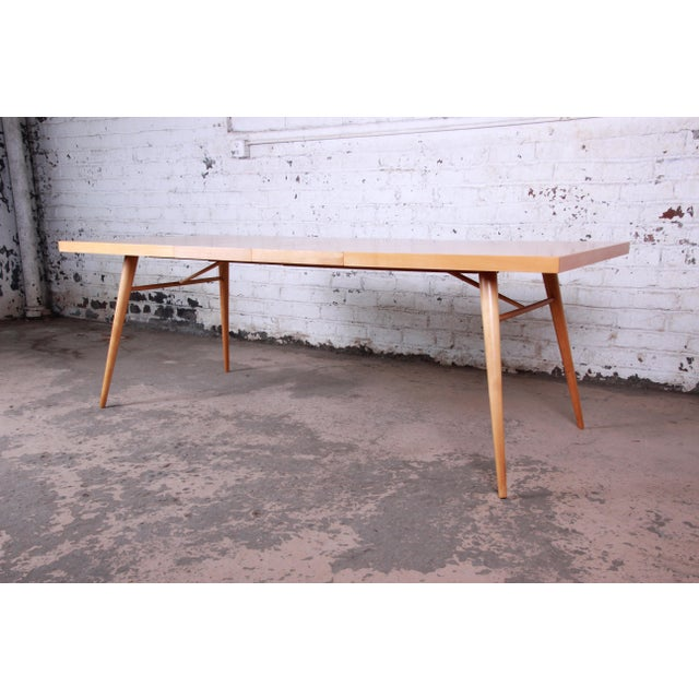 Brown 1950s Paul McCobb Planner Group Mid-Century Modern Dining Set For Sale - Image 8 of 13