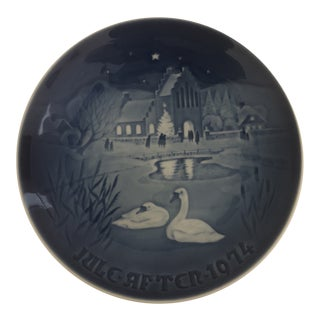 Bing & Grondahl Jule After 1974 Christmas Plate For Sale