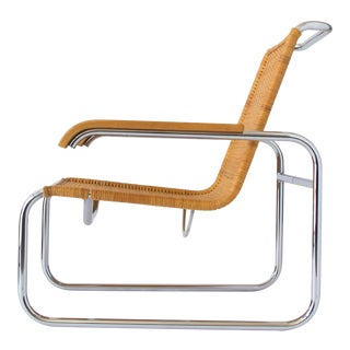 Marcel Breuer for Thonet B35 Rattan Lounge Chair