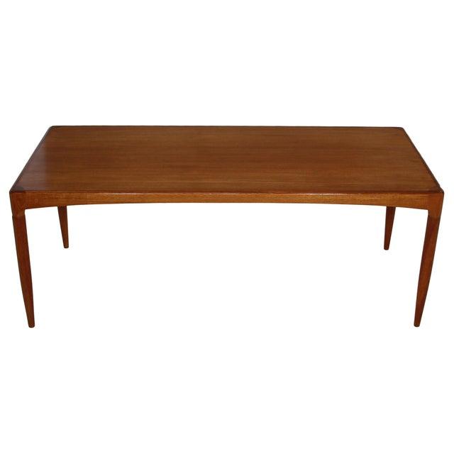 Mid-Century Modern Mid Century Danish Teak Coffee Table For Sale - Image 3 of 7