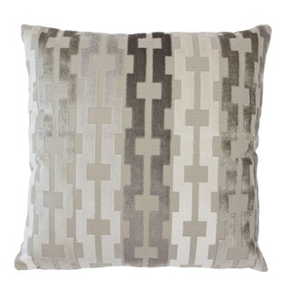 """Piper Collection Geometric Velvet """"Link"""" Pillow For Sale"""