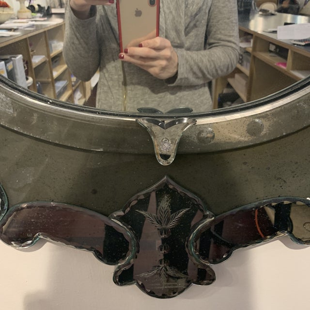 Late 20th Century Antique Venetian Wall Mirror For Sale - Image 5 of 13
