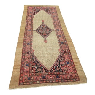 "Antique n.w. Persian Serab Oriental Rug Circa Lt. 1800's 4'8"" X 11'2"" Gallery Long Rug For Sale"